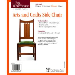 Arts and Crafts Side Chair Plan