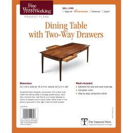 Dining Table with Two-Way Drawers Plan