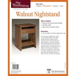 Walnut Nightstand Plan