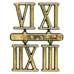 Set of 4 Roman Numbers