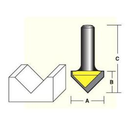 Econocut V. Groove Router Bits