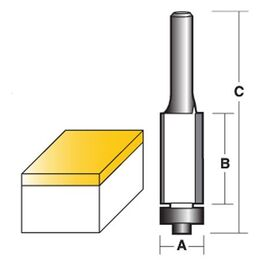 Carbitool Flush Trim Router Bit