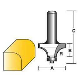 Carbitool Rounding Over Router Bits