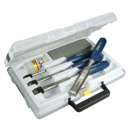 Stanley 5002 4 Piece Chisel Set with Oil & Stone