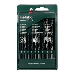 Metabo 627179000 Wood, HSS, Masonry Drill Bit Set (9 Piece)