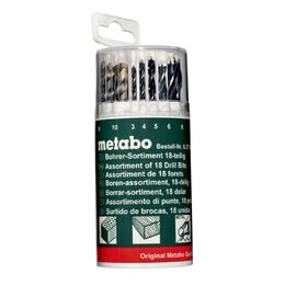 Metabo 62719000 Drill Bit Set for Wood, HSS, Masonry (18 Piece)