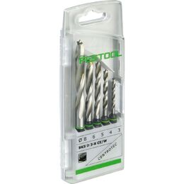 Festool CENTROTEC 3-8mm Wood Spiral Drill Bit Set (493648)