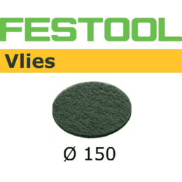 Festool 150mm 0 Hole Vlies  Abrasive Disc - Green (10 Pack) (496508)