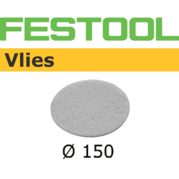 Festool 150mm 0 Hole Vlies Abrasive Disc - White (10 pack) (496509)