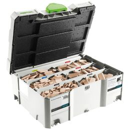 Festool DOMINO Beech 4 mm / 10 mm Starter Systainer Set (498899)