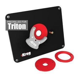 Kreg Precision Router Table Insert Plate w/ Level-Loc Rings (predrilled Triton)
