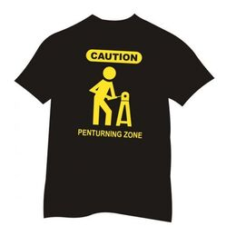 Pen Turners Caution Sign Tee-Shirt Black