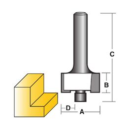 Carbitool Rebating Router Bit