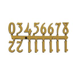 Mustair Set of 12 Arabic Numbers (Gold)