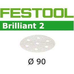 Festool 90mm 6 Hole Brilliant Abrasive Disc