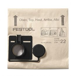 Festool Replacement Paper Filter Bags for CT Dust Extractors