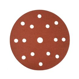 Hook and Loop Perforated Sanding Disc 150mm (15 Ho
