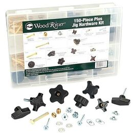 WoodRiver 1/4Inch x 20 Jig Hardware Kit, 150 piece