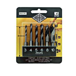 Carb-I-Tool Drill Bit Kit HSS - 3, 4, 5, 6, 8 & 10mm (METRIC)