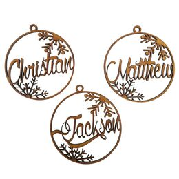 Christmas Ornaments - J