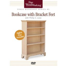 Bookcase with Bracket Feet - DVD