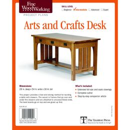 Arts and Crafts Desk Project Plan