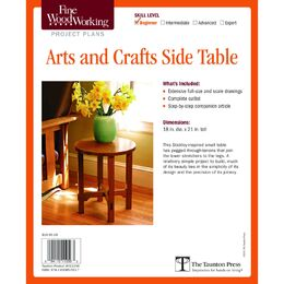 Arts and Crafts Side Table Plan