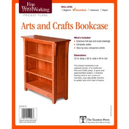 Arts and Crafts Bookcase Plan