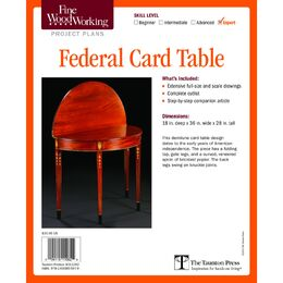 Fine Woodworking's Federal Card Table Plan