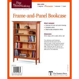 Frame-And-Panel Bookcase Plan