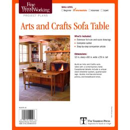Arts and Crafts Sofa Table Plan