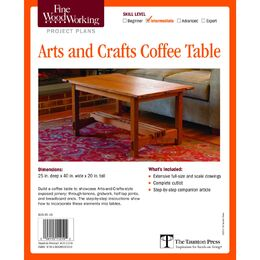 Arts and Crafts Coffee Table Plan