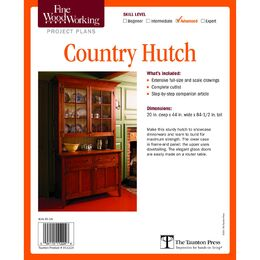 Country Hutch Plan