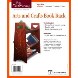 Arts and Crafts Book Rack Plan