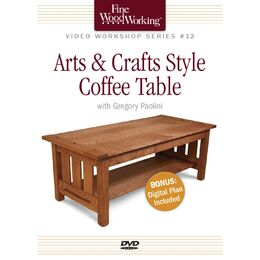 Arts & Crafts Style Coffee Table - DVD