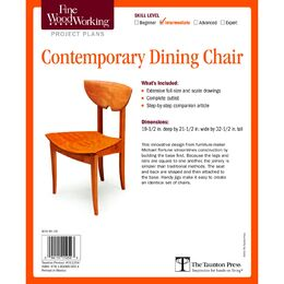 Contemporary Dining Chair Plan