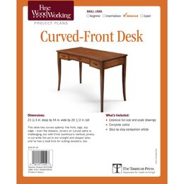Curved-Front Desk Plan