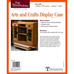 Arts and Crafts Display Case Plan