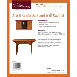 Arts and Crafts Desk and Wall Cabinet Plan
