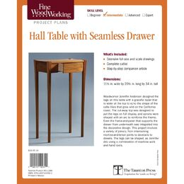 Hall Table with Seamless Drawer Plan