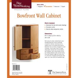 Bowfront Wall Cabinet Plan