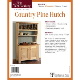 Country Pine Hutch Plan