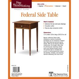 Federal Side Table Plan