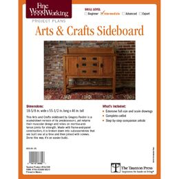 Arts & Crafts Sideboard Plan