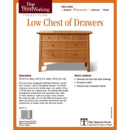 Low Chest of Drawers Plan