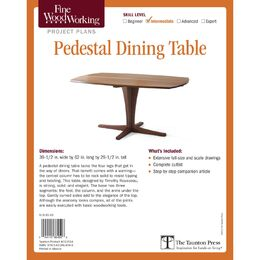 Pedestal Dining Table Plan