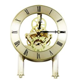 124mm Skeleton Clock - Gold