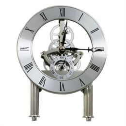 124mm Skeleton Clock - Chrome