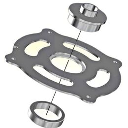 INCRA CleanSweep MagnaLOCK Guide Ring Insert for Porter Cable Style Guide Bushings (CS-MLRGUIDE)