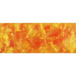 Metre Long Acrylic - Orange with White Crush